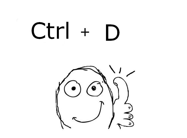 ctrl+d